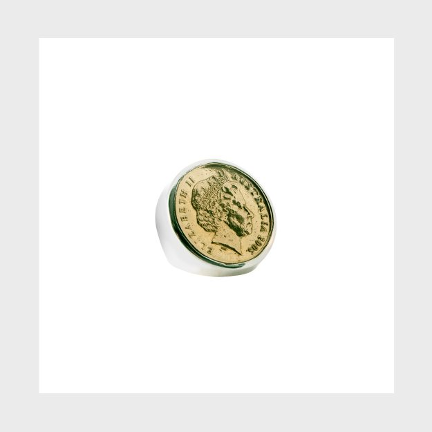 Sterling Silver Australian $1 Coin Ring