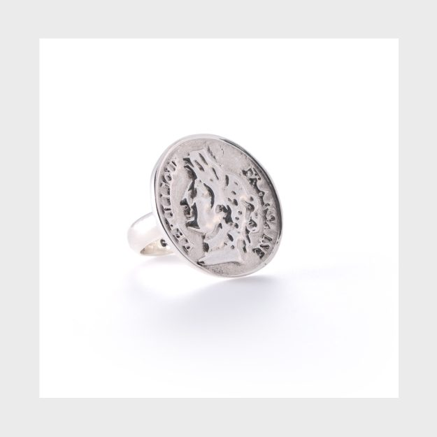 Sterling Silver French Coin Ring