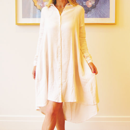 Our Murphy Linen Dress shown here in Blush Pink comes in 6 fabulous colours. A Pale blue, mocha, blush pink, navy, black, and white. Also crafted in 100% pure linen it's the perfect gift for any special occasion.