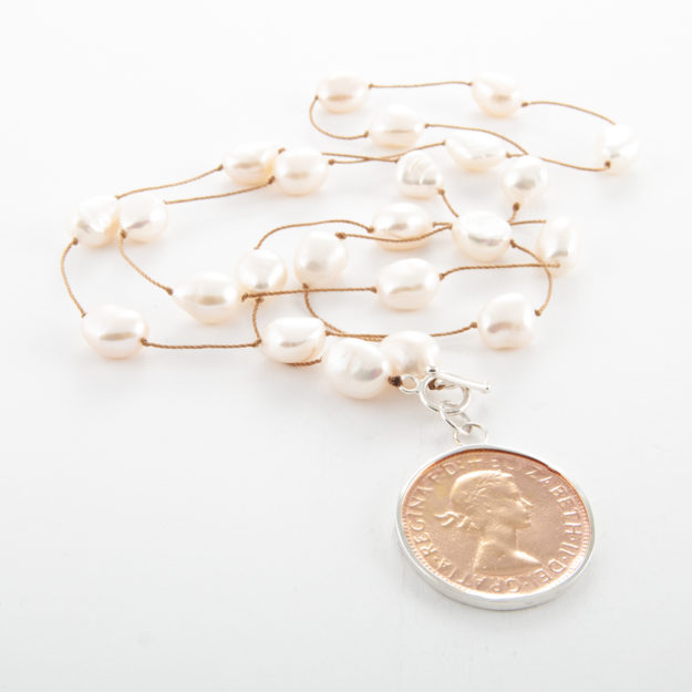 Spaced Freshwater Pearl Necklace