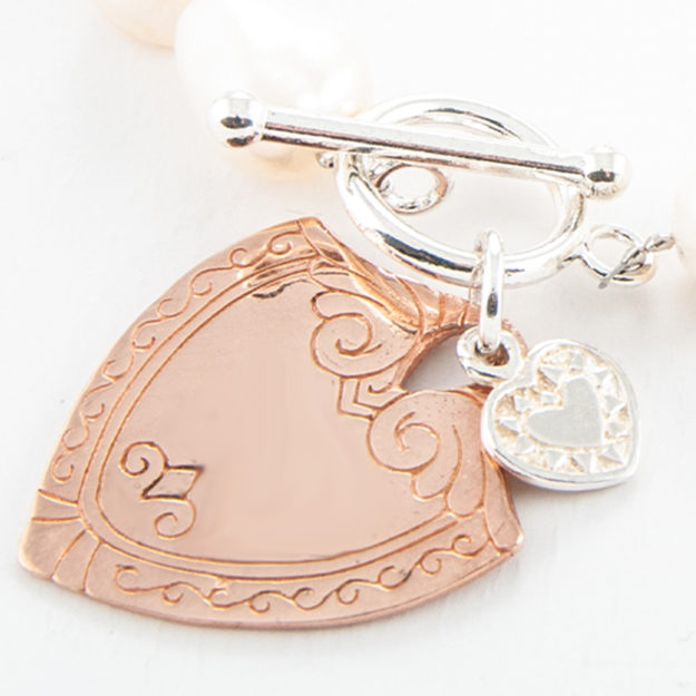 Rose Gold Shield Charm