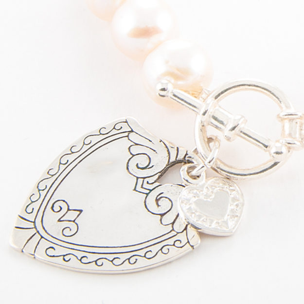 925 Sterling Silver Sheild Charm