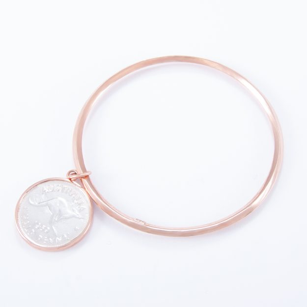 Rose Gold Half Penny Bangle