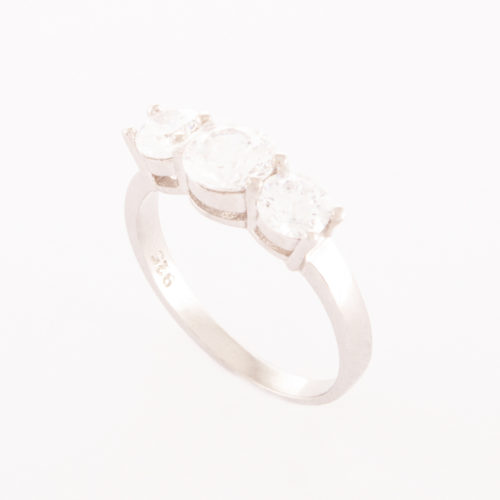 "Our Sterling Silver Cubic Zirconia ""Love You"" Ring, shown with 3 sparkling CZ, is a truly special piece."