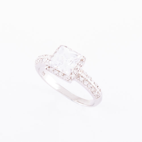 925 Sterling Silver Cubic Zirconia Ring (Emma)
