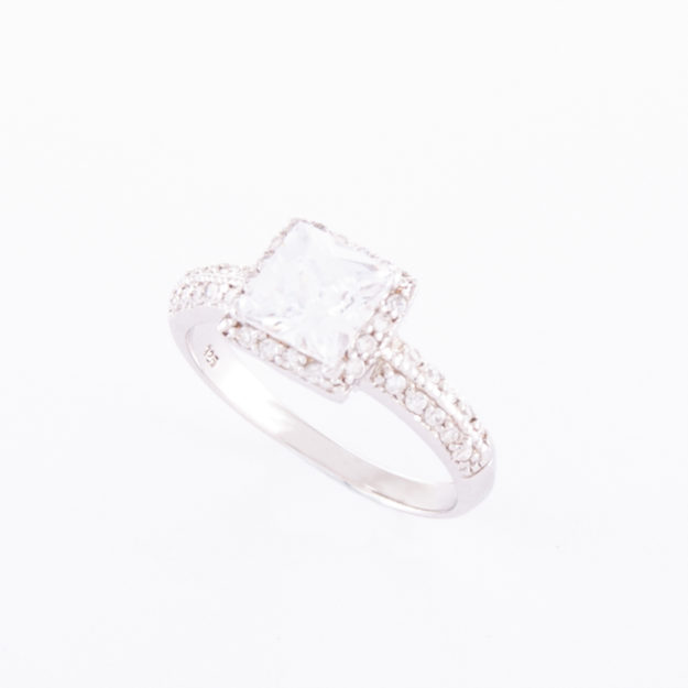 Sterling Silver Cubic Zirconia Ring (Emma)