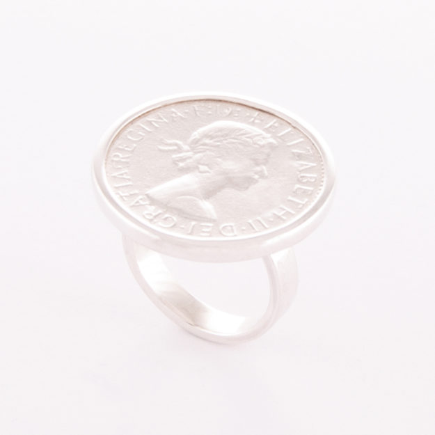 Sterling Silver Half Penny Ring