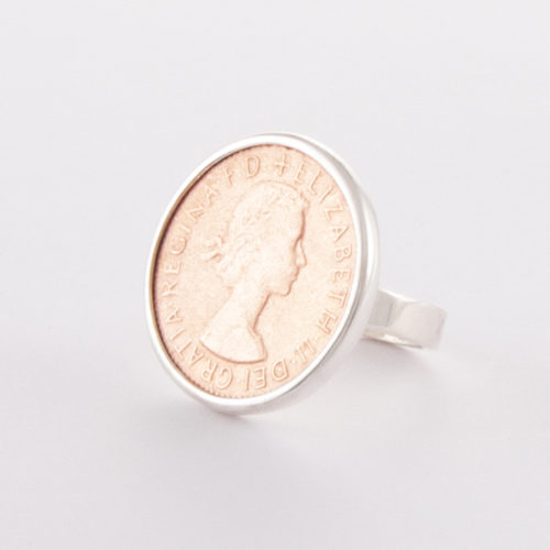 Our Sterling Silver & Rose Gold Half Penny Ring is a truly beautiful piece. Cast in 925 sterling with rose gold plated over the half penny face. Creating a unique 2 tone finish. Also, available in reverse on request. The choice is yours!