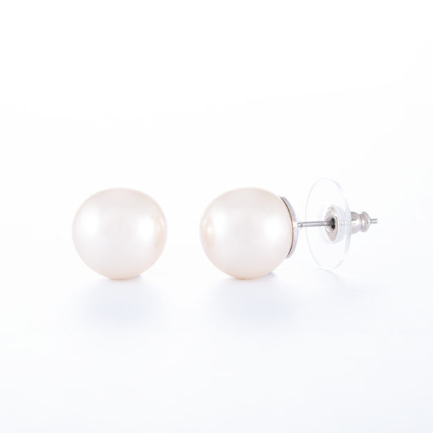 Glass Based Pearl Stud Earrings