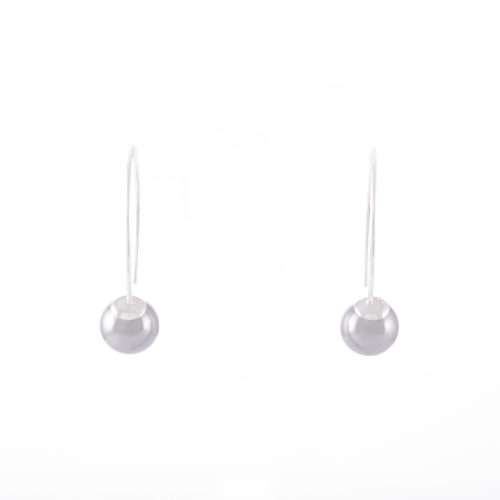 Our Light Grey Pearl Drop Earrings 8mm. Shown here, in hand-made 925 sterling. In short, this petite and elegant pair of gems are full of style. The ideal addition to any personal jewelry collection or as a unique gift idea for someone extra special.
