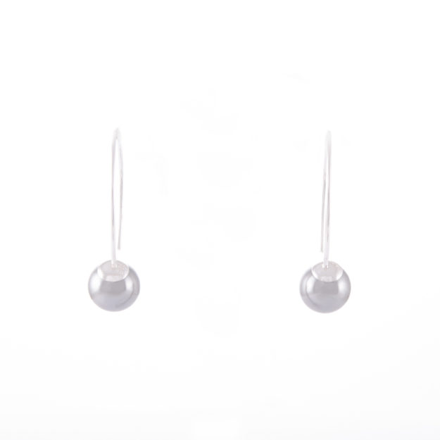 Light Grey Pearl Drop Earrings 8mm