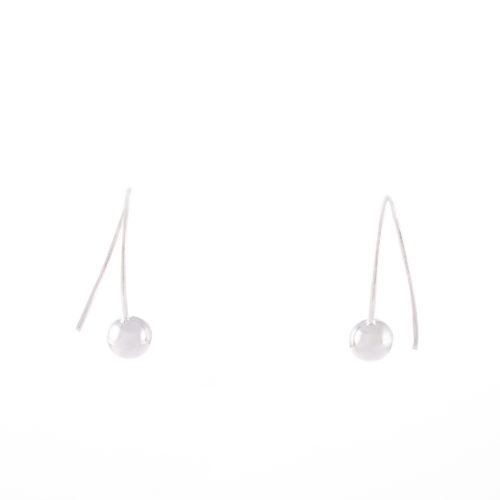 Our Sterling Silver Ball Drop Earrings 6mm. Shown here, hand-made in a stunning 925 sterling finish. In short, this petite pair of little gems are full of elegance and style. The perfect addition for any personal jewellery collection or as a gift idea for someone special.