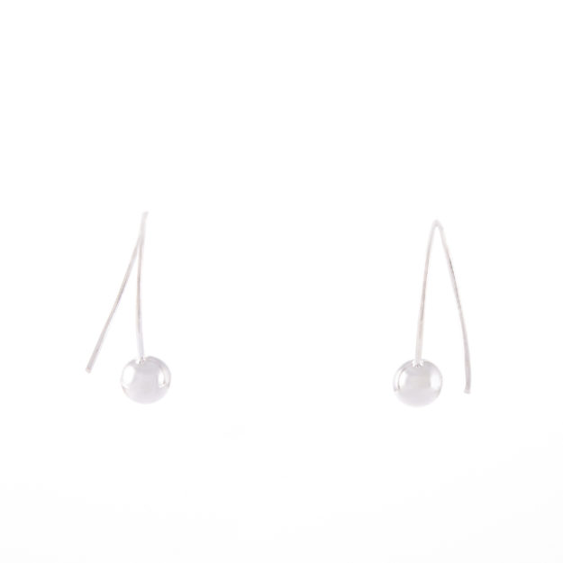 Sterling Silver Ball Drop Earrings 6mm