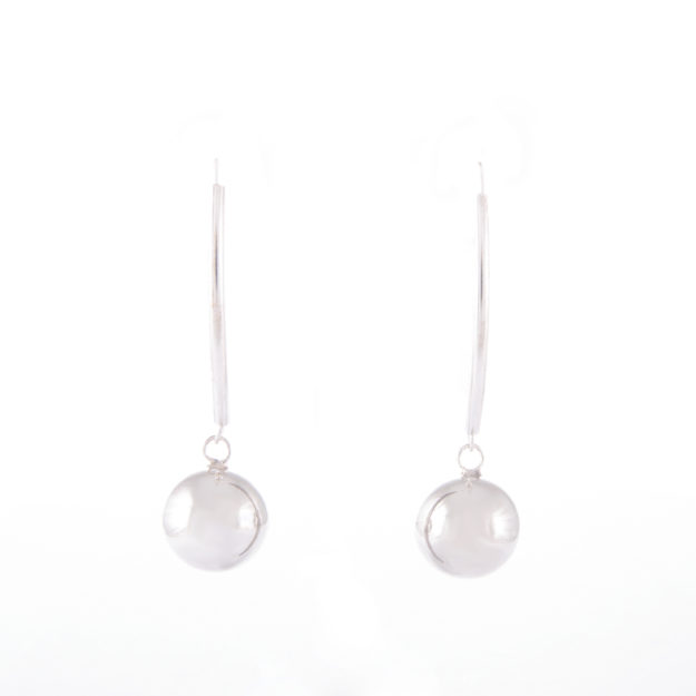 Sterling Silver Ball Drop Earrings