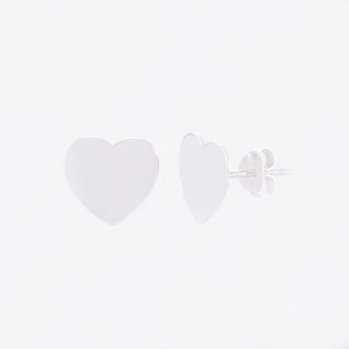 Our Sterling Silver Love Heart Stud Earrings. Shown here, hand-made in stunning 925 sterling. In short, this unique little pair of gems are full of love. They make the perfect special gift for that someone special.