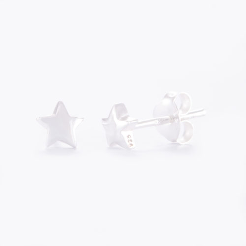 Our Sterling Silver Star Stud Earrings. Shown here, hand-made in beautiful 925 sterling. In short, this unique petite pair of gems, twinkle with lots of love. They're the perfect gift for that someone extra special.