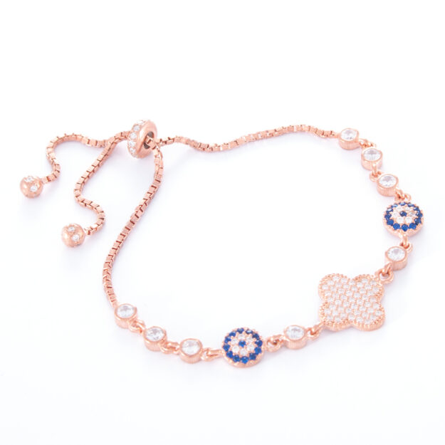 Rose Gold Adjustable Bracelet Lucky Protect Me