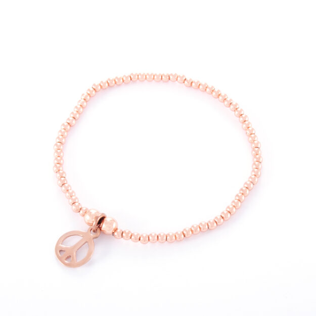 Rose Gold Peace Ball Bracelet