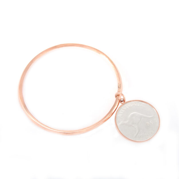 Rose Gold Penny Bangle