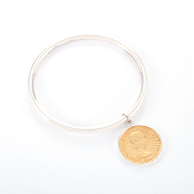 Sterling Silver Half Penny Tube Bangle