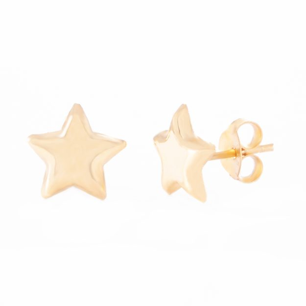 5mm Gold Sterling Silver Star Stud Earrings