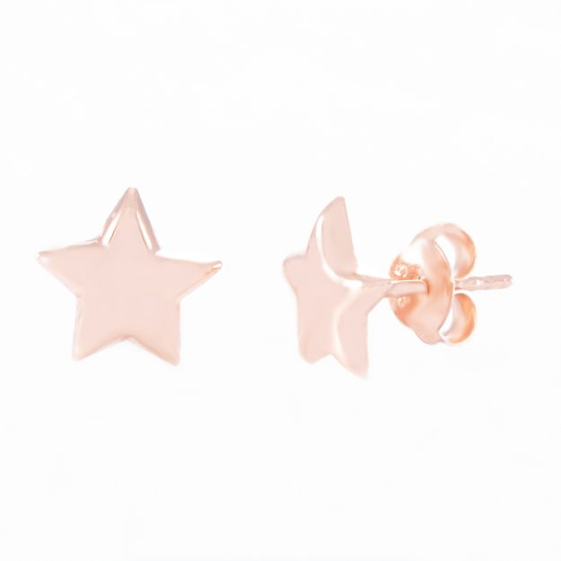 5mm Rose Gold Star Stud Earrings