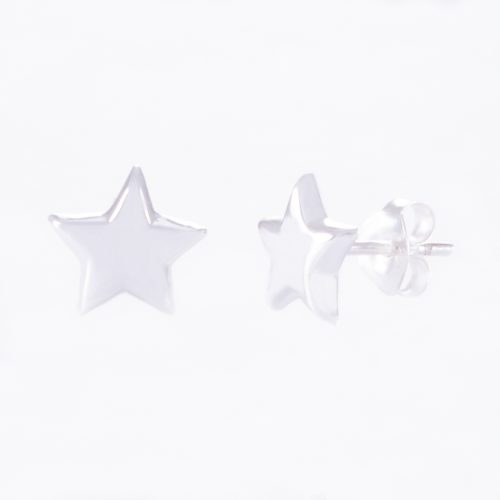 Our 5mm Sterling Silver Star Stud Earrings. Shown here, hand-made in stunning 925 sterling. In short, there's plenty of style in this little pair of gems. They're sure to make a wish come true as a gift for someone special. Or as a self-indulgent addition to your very own jewellery collection.
