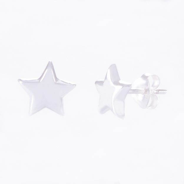 5mm Sterling Silver Star Stud Earrings