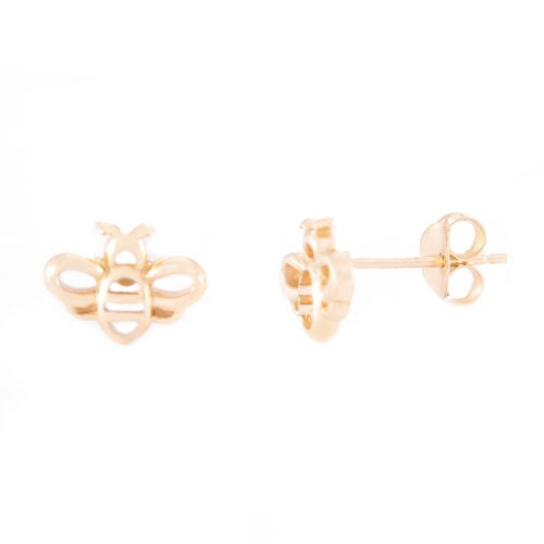 Our Gold Bumble Bee Stud Earrings. Shown here, beautifully plated over 925 sterling silver. In short, there's a lot of fun in this cute pair of little gems! The ideal self-indulgent purchase to add to your own collection. Or as the perfect gift for someone very special.