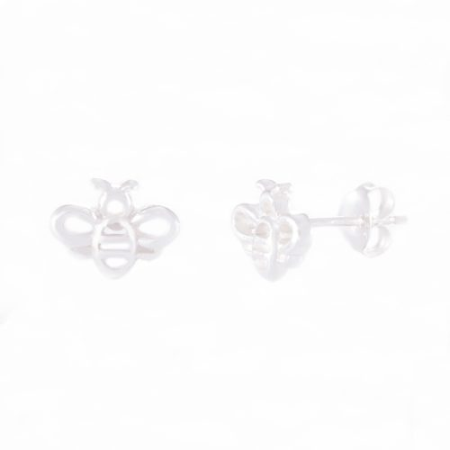 Our Sterling Silver Bumble Bee Stud Earrings. Shown here, hand-made in stunning 925 sterling. In short, this unique little pair of gems are full of fun. They make the ideal gift for someone special. Or as a self-indulgent addition to your own collection.