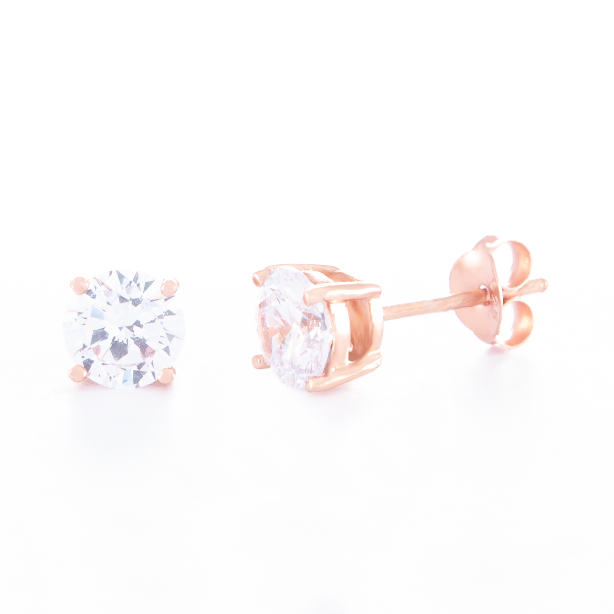 6mm-Cubic-Zirconia-Rose-Gold-Stud-Earrings