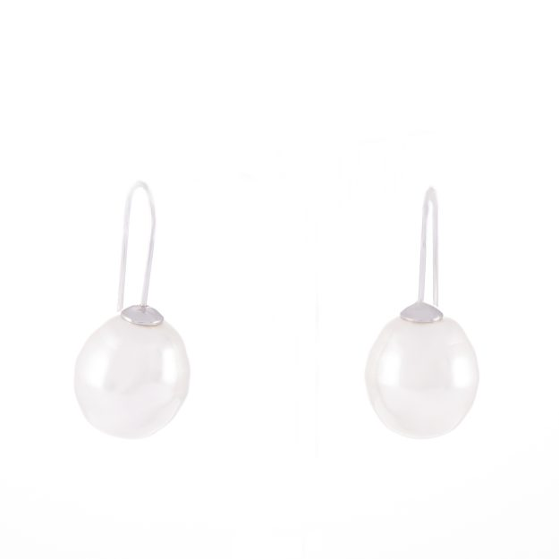 Large Pearl Sterling Silver Earrings