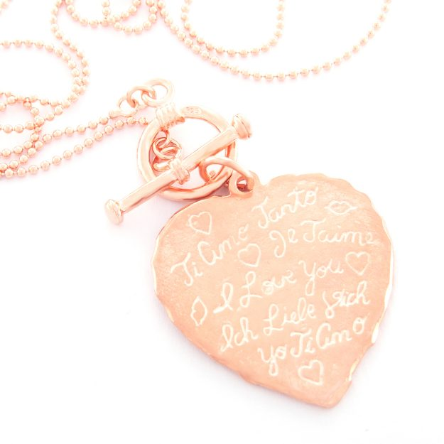 Rose Gold Tiamo Fob Necklace