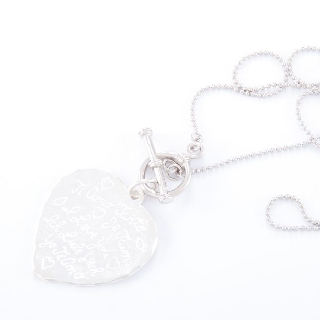 Sterling Silver Tiamo Heart Fob Necklace