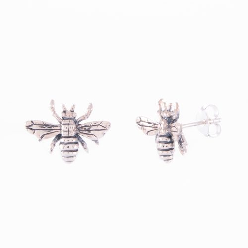 Our Sterling Silver Bee Stud Earrings. Shown here, handcrafted in stunning 925 sterling. In short, there's a lot of fun in this unique little pair of gems. They'll make the perfect gift for someone extra special. Or as a self-indulgent purchase to add to your own jewelry collection.