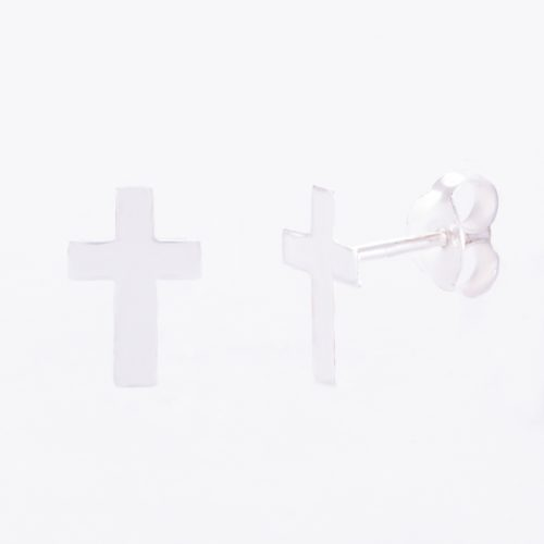 Our Sterling Silver Cross Stud Earrings. Shown here, handcrafted in stunning 925 sterling. In short, this unique little pair of gems are full of elegance and style. They make the perfect gift for someone extra special. Or as a self-indulgent purchase to add to your own jewelry collection